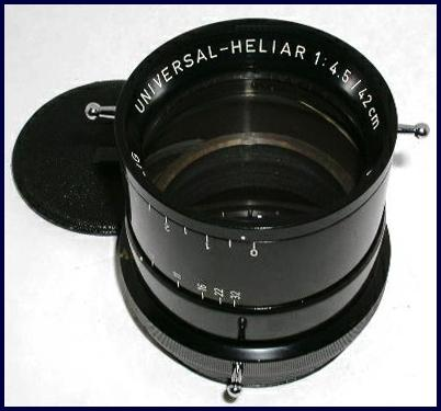 Photo of a very late model, coated Universal-Heliar 420mm f/4.5